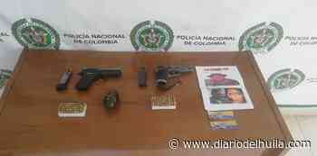 Dos adolescentes fueron aprehendidos en Iquira con material guerra - Diario del Huila