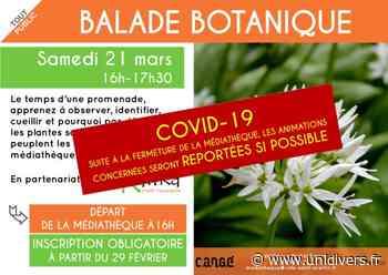 Balade botanique (reportée) Médiathèque de Cangé Saint-Avertin 21 mars 2020 - Unidivers