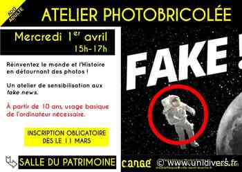 Atelier photobricolée Médiathèque de Cangé Saint-Avertin 1 avril 2020 - Unidivers