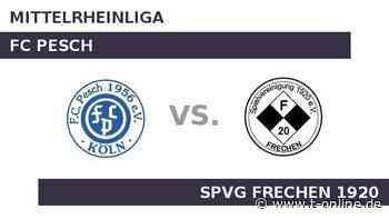 FC Pesch gegen SPVG FRECHEN 1920: Pesch schwächelt - t-online.de