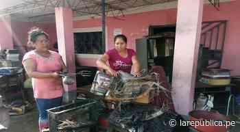 Lambayeque: incendio arrasa con institución educativa de Reque - LaRepública.pe