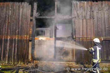 Scheunenbrand in Olbernhau: Ermittler gehen von Brandstiftung aus - Freie Presse