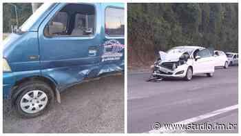 Acidente entre dois veículos deixa um ferido na BR 470 em Garibaldi | Rádio Studio 87.7 FM - Rádio Studio 87.7 FM