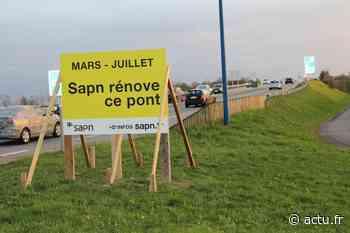 À Saint-Aubin-sur-Gaillon (Eure), le pont enjambant l'A13 sera en travaux du 16 mars au 24 juillet - Normandie Actu