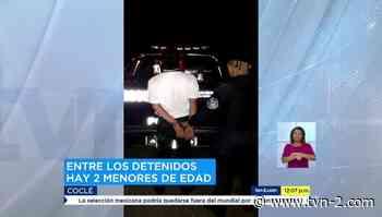 Provincias Dos menores entre los detenidos por robo a minisúper en Churuquita Grande - TVN Panamá