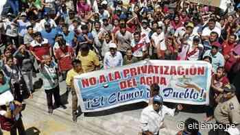 Sechura: con marcha, población de Vice pide a alcalde que no entregue agua a la EPS Grau - Diario El Tiempo - Piura