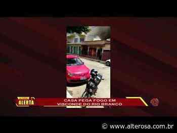 Casa pega fogo em Visconde do Rio Branco - TV Alterosa