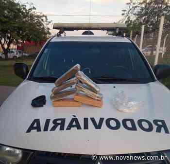Ivinhema - Polícia Militar Rodoviária apreende adolescente de Brasília transportando sete tabletes de maconha - Nova News