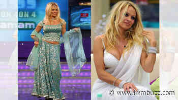Pamela Anderson in Lehenga or Saree: Which one suits her more? - IWMBuzz