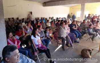 Niega comunidad de Panuco de Coronado la construcción de la Presa de Jales - El Sol de Durango