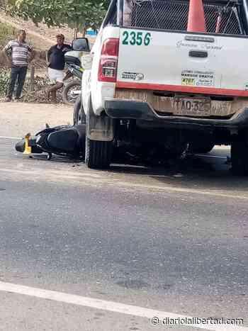 Motociclista choca de frente con una camioneta en Luruaco y queda gravemente herido - Diario La Libertad