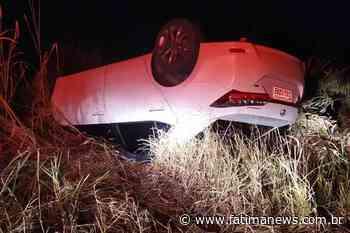 IVINHEMA: Carro de médica capota na MS-276 e deixa três pessoas feridas - Fátima News