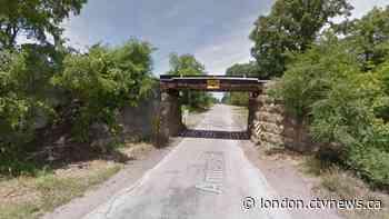 Transport strikes rail bridge in Komoka - CTV News London