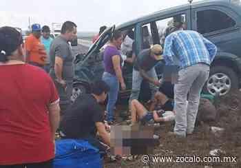Muere mujer tras brutal choque en la carretera Allende-Nueva Rosita - Periódico Zócalo