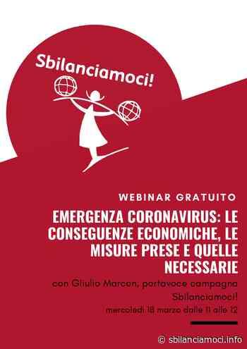 Giulio Marcon in webinar per parlarci dell'emergenza Coronavirus - Sbilanciamoci - L'economia com'è e come può essere. Per un'Italia capace di futuro - sbilanciamoci.info