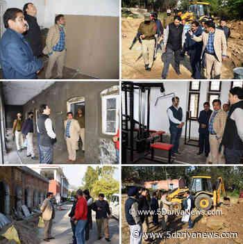 DDC Udhampur inspects R&B works - 5 Dariya News