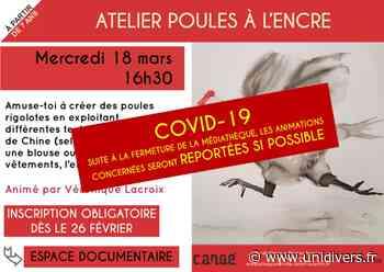 Atelier poules à l'encre (reporté) Médiathèque de Cangé - Unidivers