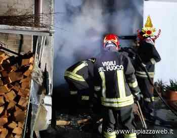 Incendio a Santa Giustina in Colle: paura in via Tergola - La Piazza