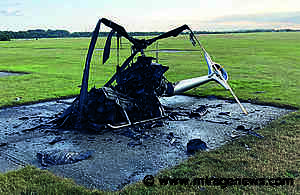 AAIB Report Guimbal Cabri G2, helicopter caught fire and was destroyed - Mirage News