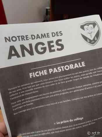Dans ce contexte d'épidémie, le collège Notre-Dame des Anges de Vineuil a pensé à la continuité pédagogique... - RCF