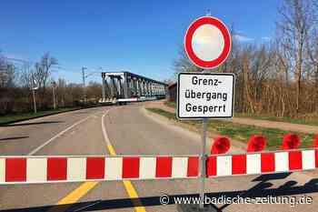 Grenzübergänge bei Neuenburg und Hartheim geschlossen - Neuenburg - Badische Zeitung