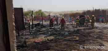 Incendio deja a una familia damnificada en Sechura - Diario El Tiempo - Piura