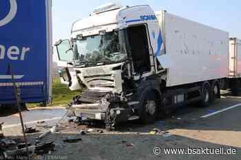 Autobahn 8: Verkehrsunfall bei Langenau führt zu Folgeunfall mit Sattelzügen - 120.000 Euro Schaden - BSAktuell