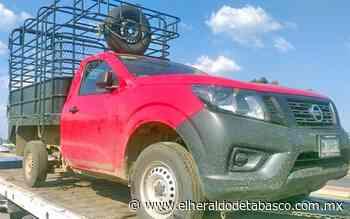 Recuperan en Huimanguillo camioneta con reporte de robo - El Heraldo de Tabasco