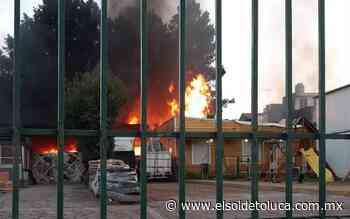 Se incendia fábrica de piezas de madera en Ocoyoacac - El Sol de Toluca
