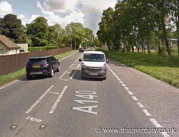 A140 closed at Brome after crash between van and car | Diss and Harleston News - Diss Mercury