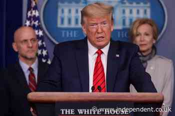 Trump news – live: President rages at reporter during coronavirus press conference and insists there will be no national lockdown