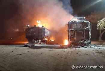 Dos carros cisternas ardieron en Pailón - EL DEBER