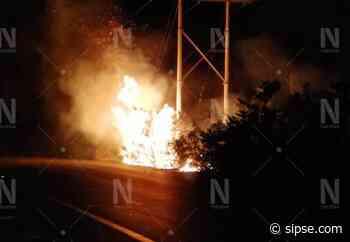 Se incendia rancho en la carretera Ticul-Oxkutzcab - sipse.com