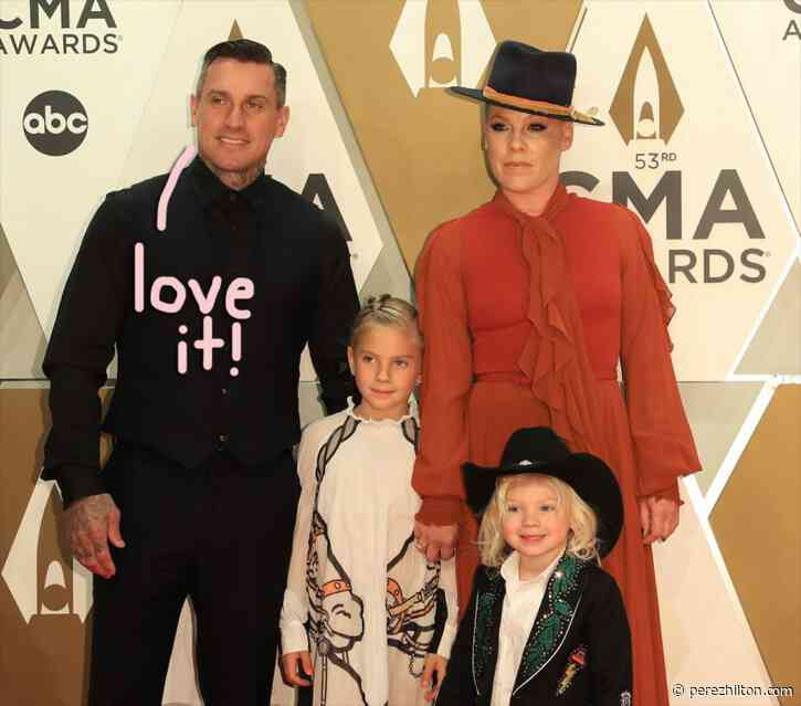 Pink's Daughter Gives Dad Cary Hart A Dramatic Haircut While Social Distancing