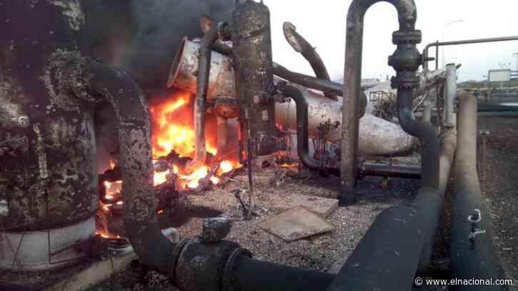Registraron fuerte explosión en Pdvsa Gas de Punta de Mata - El Nacional