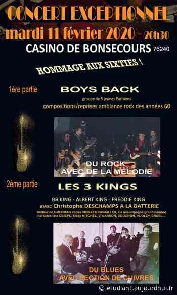CONCERT ROCK ET BLUES DES SIXTIES - CASINO DE BONSECOURS, Bonsecours, 76240 - Sortir à France - Le Parisien Etudiant