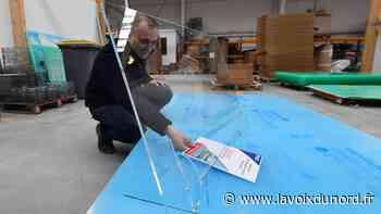 Coronavirus: à Wormhout, le groupe Mazal invente et fournit une centaine de pare-postillons par jour - La Voix du Nord