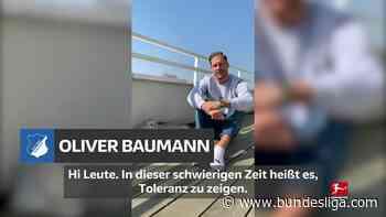 #WirBleibenZuhause - Oliver Baumann macht mit - Bundesliga.de