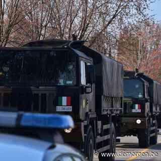 Leger ingezet om overleden Italianen van Bergamo naar andere steden te brengen