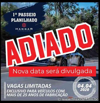 1º Passeio Planilhado Hangar - Rio Negrinho, SC • 04/04/2020 - ADIADO - Portal Maxicar de Veículos Antigos