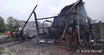 Lagerhallenbrand bei Parkstein - Oberpfalz TV