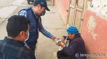Coronavirus: entregan ayuda a adultos mayores en Cajabamba - LaRepública.pe