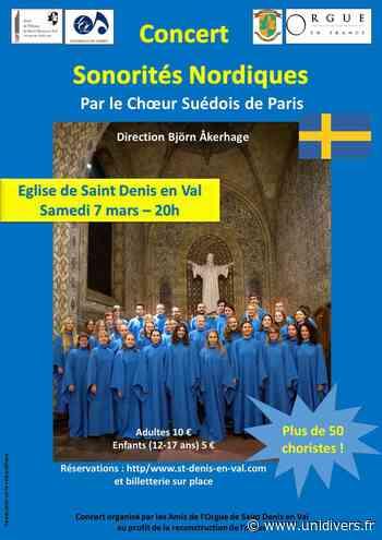 Concert Sonorités Nordiques Eglise de Saint Denis en Val 7 mars 2020 - unidivers.fr