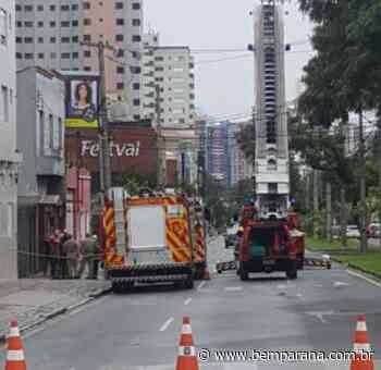 Fogo Princípio de incêndio fecha pista da Avenida Silva Jardim, no Rebouças - Bem Parana