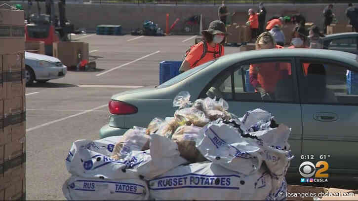 Food Bank Hosts Drive-Thru Food Distribution Service In Anaheim