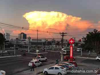 Nuvem cúmulo-nimbo chama a atenção de Feira de Santana, Mutuípe, Serrinha e muitos municípios do recôncavo - Mídia Bahia