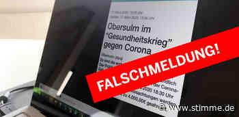 Falschnachricht über angebliche Ausgangssperre in Obersulm im Umlauf - Heilbronner Stimme