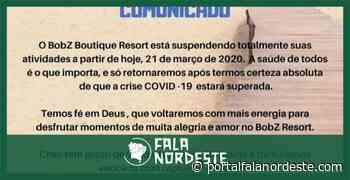 Comunicado do BobZ Resort Barrinha, Cajueiro da Praia - Fala Nordeste