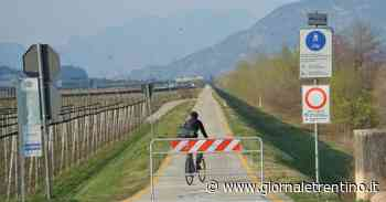 Coronavirus, piste ciclabili chiuse, ma a Mattarello e Ravina non ci sono barriere né divieti - Trentino
