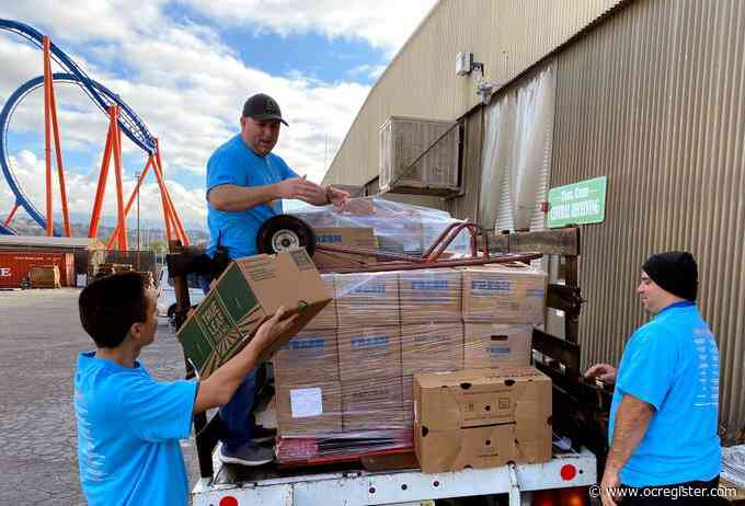 Six Flags Magic Mountain donates excess food to food bank during coronavirus closure